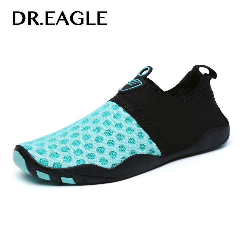 ed89cedad Compre Dr.Eagle Zapatillas De Playa De Agua Para Nadar Zapatos Piscina  Mujeres Hombres Deporte Malla Zapatilla De Natación Nadar Para El Buceo Mar  ...