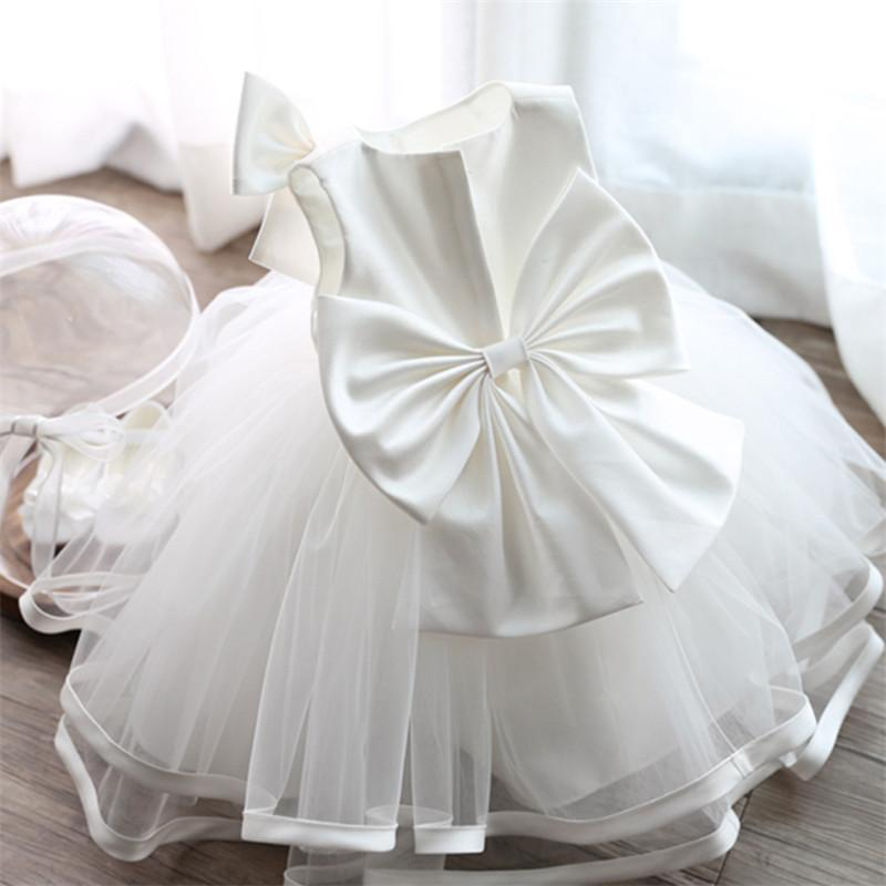 2019 Newborn Baptism Dress For Baby Girl White First Birthday Party ... 7079a6c4defd
