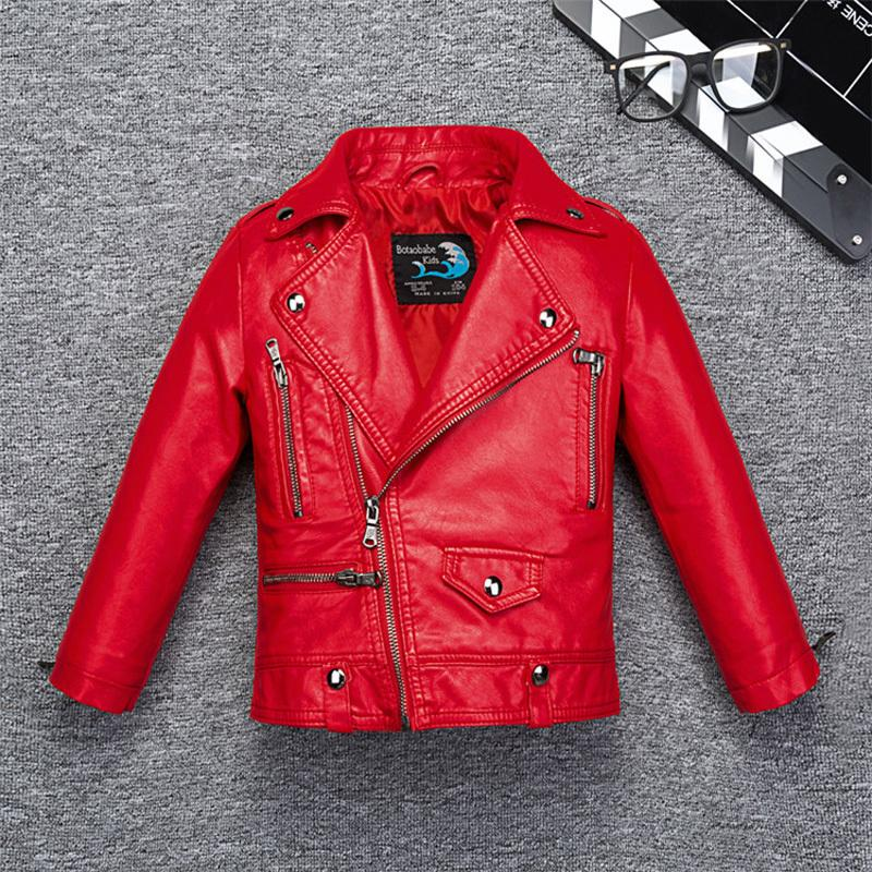 acef004c2fc21 Stylish Girls Wind Proof Water Proof Leather Jacket For Fall Winter Kids  Boys Motor Coat Bomber Children'S Clothes Windbreaker Boys Winter Jacket  Children ...