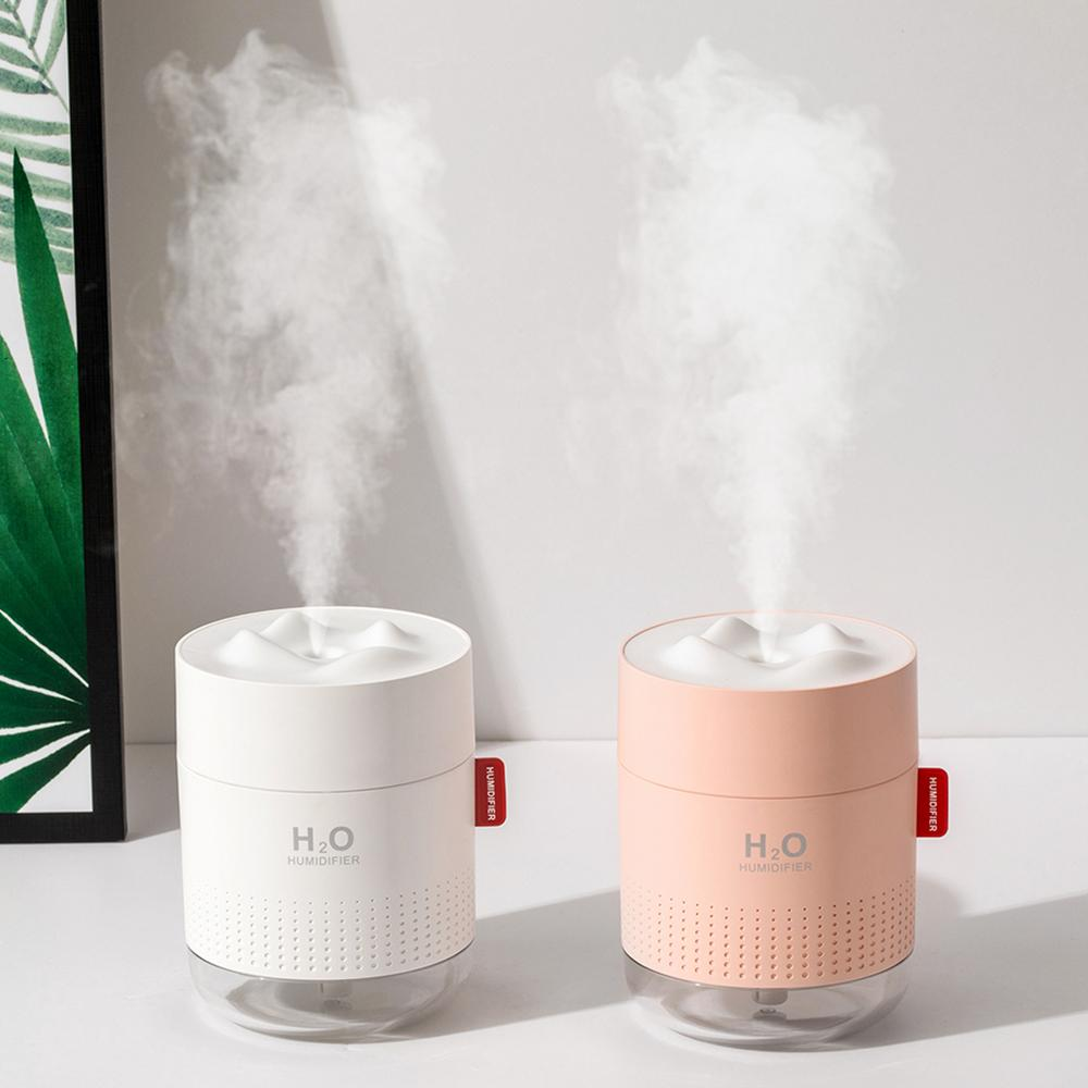 Portable Ultrasonic Humidifier 500ML Snow Mountain H2O USB Aroma Air Diffuser With Romantic Night Lamp Humidificador Difusor