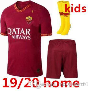 4c3d344d1 2019 ROMA SOCCER JERSEY Kids Kit 19/20 New Home Totti 22019/20 EL SHAARAWY Home  Kids Soccer Jersey With Socks From Messisporto1, $16.76 | DHgate.Com
