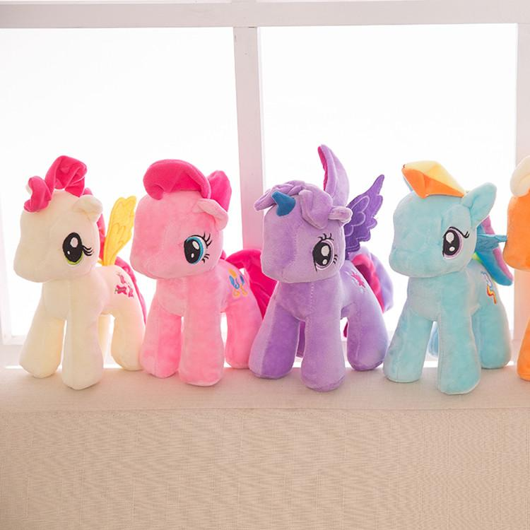 25cm Cartoon baby Toys Unicorn Plush Doll Kids Rainbow Little Horses Soft Stuffed Animal Toy Unicorn Doll Party Supplies T2G5045