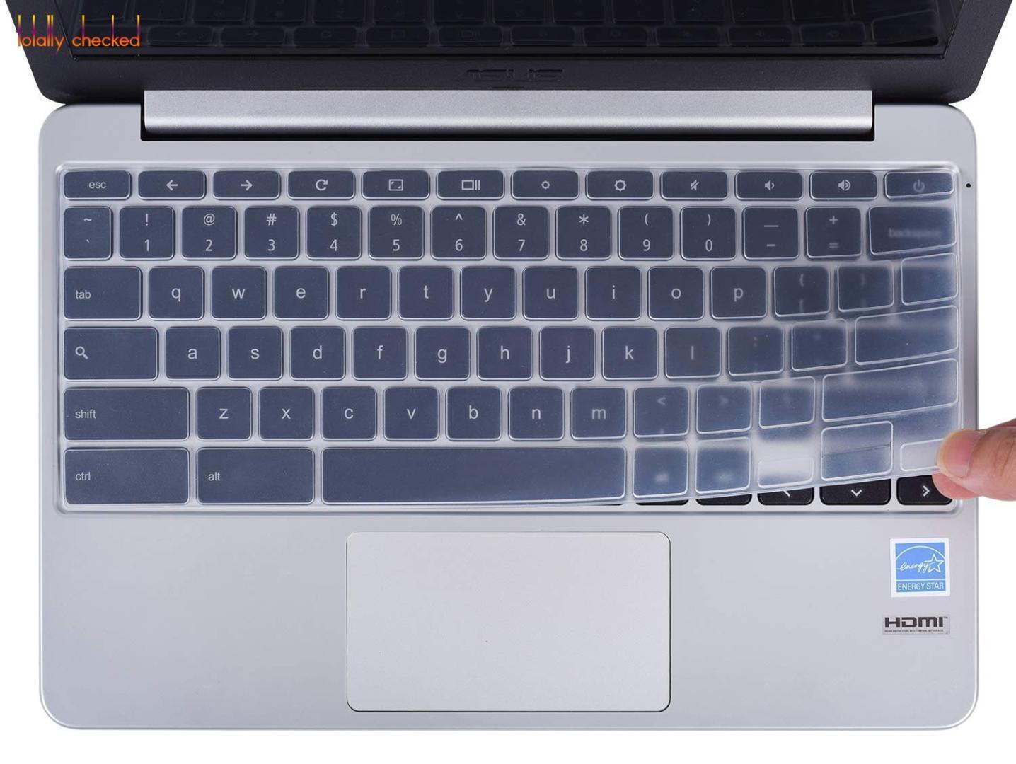 Teclado Protetor De Silicone Capa de Pele para ASUS Chromebook 11 6  Polegada C200 C200MA C201 C201PA C202SA Portátil Chrome livro EUA