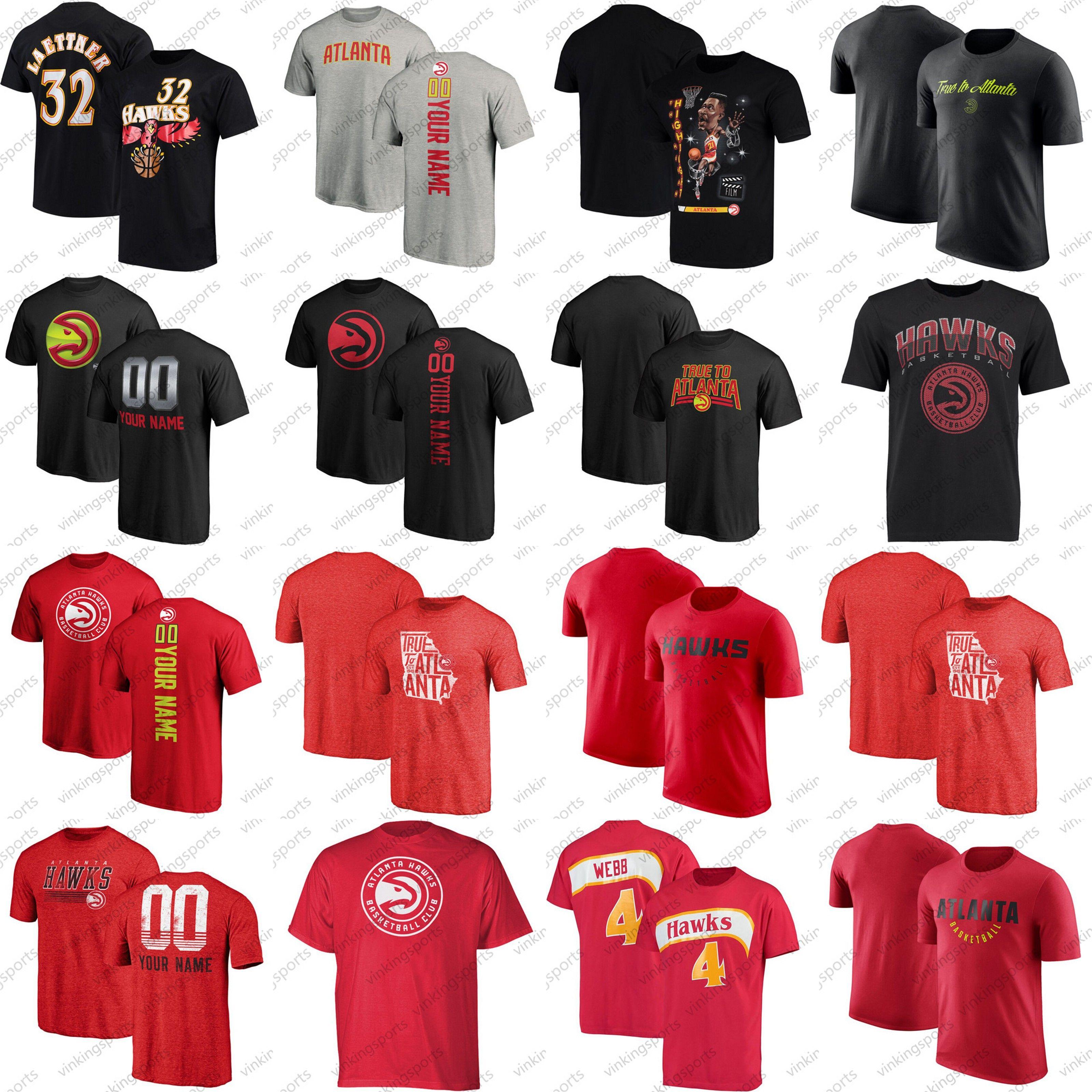 brand new 2f145 094de Custom Trae Young T-Shirt Dominique Wilkins Stacey Augmon Vince Carter  Dennis Schroder Kevin Huerter Dwight Howards Kent Bazemore S-XXXL Tee