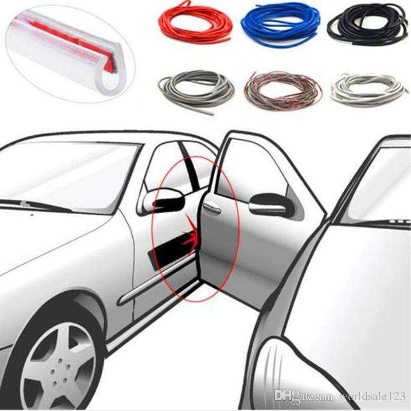 5M 8M 10M Car Door Rubber Bumper Strips Door Seal Edge Protection Strip Bumper Protection Car Door Anti collision Scratch Guard Protector