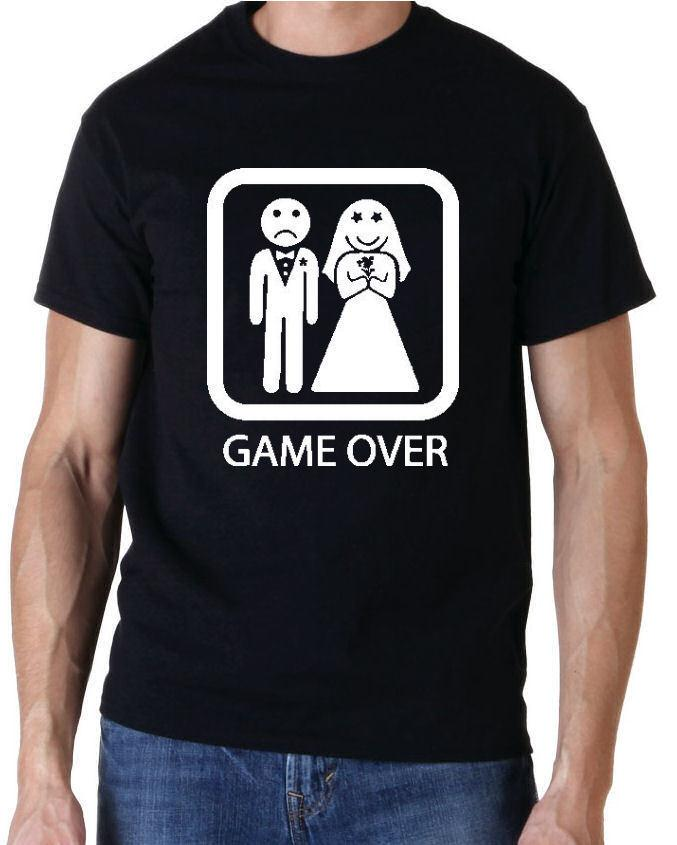 2c7a25f3 GAME OVER FUNNY STAG PARTY DO T SHIRT PLUS NAME ON BACK Men Women Unisex  Fashion Tshirt Fun T Shirts Online Shirts From Customtshirt201803, $10.66|  DHgate.