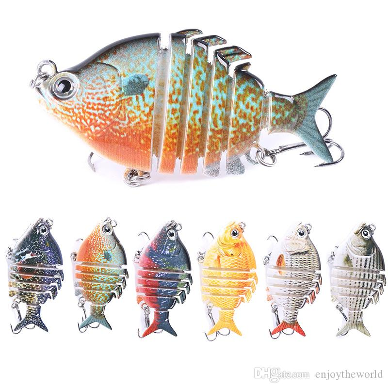 6.35cm 9.3g Wobblers Pike Fishing Lures Artificial Multi Jointed Sections Artificial Hard Bait Trolling Pike Carp Fishing Tools