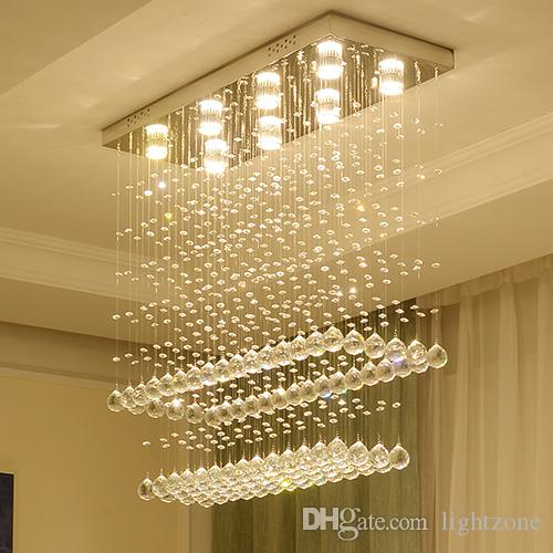 Modern chandelier crystal lamps ceiling lights round luxury led chandeliers  light ceiling lightings for high ceilings living room bedroom
