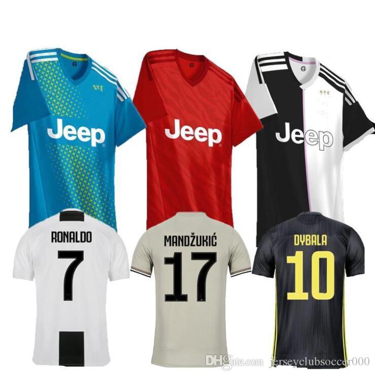 quality design b39fa 465f8 Ronaldo jersey 2018 2019 2020 football shirts Dybala Mandzukic Pjanic Juv  soccer jerseys 18 19 20 Camiseta de futbol C Ronaldo uniforms