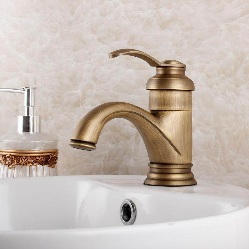 Antique Br Bathroom Faucets | Free Shipping Contemporary Concise Bathroom Faucet Antique Bronze Finish Brass Basin Sink Faucet Single Handle Water Tap Gz7203
