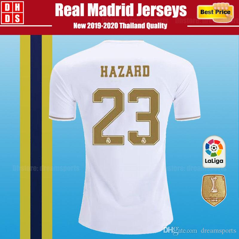 DHL Free Shipping 2019 Real Madrid Soccer Jerseys kit Home Away 18/19/20 Home MODRIC HAZARD VINICIUS JR KROOS ISCO BALE Kids Football Shirts