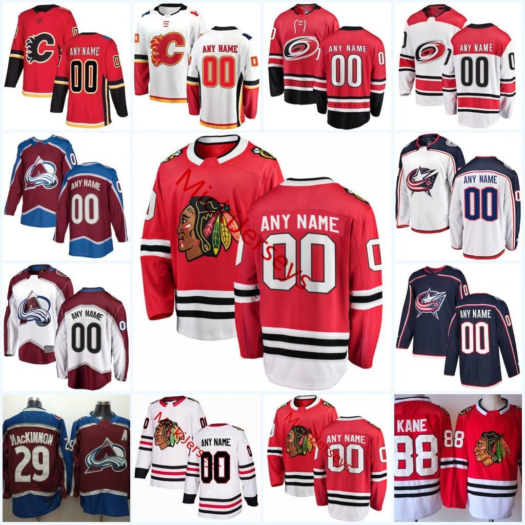 2019 2018 Mens Custom Chicago Blackhawks Jersey Calgary Flames Carolina  Hurricanes Colorado Avalanche Columbus Blue Jackets Hockey Jerseys From  Xt23518 9ddf807d2