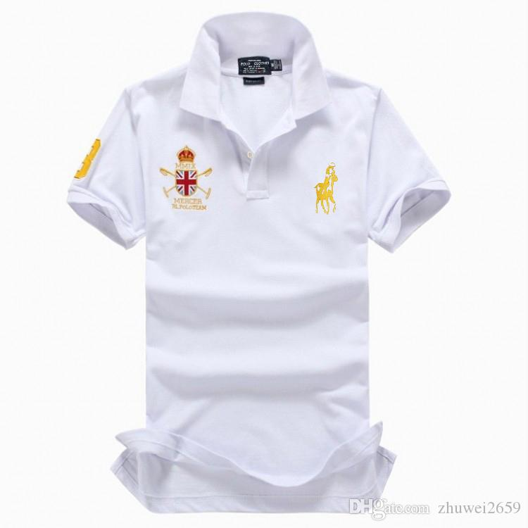 ed860693a 2019 Poloshirt Solid Polo Shirt Men Luxury Polo Shirts Long Sleeve Men s  Basic Top Cotton Polos For Boys Brand Designer Polo Homme