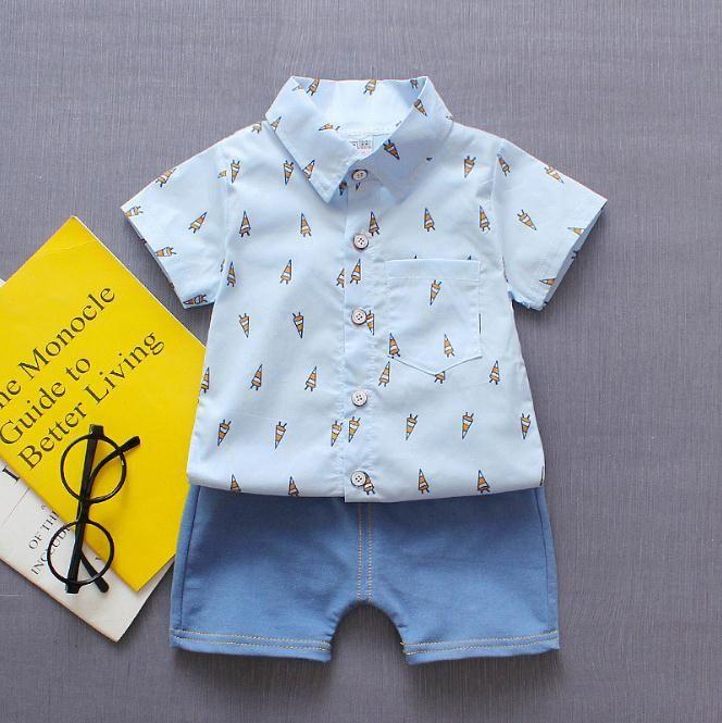 e72130b36 2019 Newborn Kids Baby Boy Clothing Set Rocket Tops Shirt Shorts ...