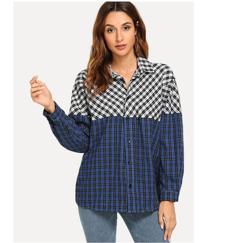cf5c051e220 2019 Cotton Spring Autumn Vintage Plaid Plus Size Clothes Casual Loose  Blusas Mujer De Moda Shirt Women Blouse 2019 Ladies Tops From Xianfeiyu