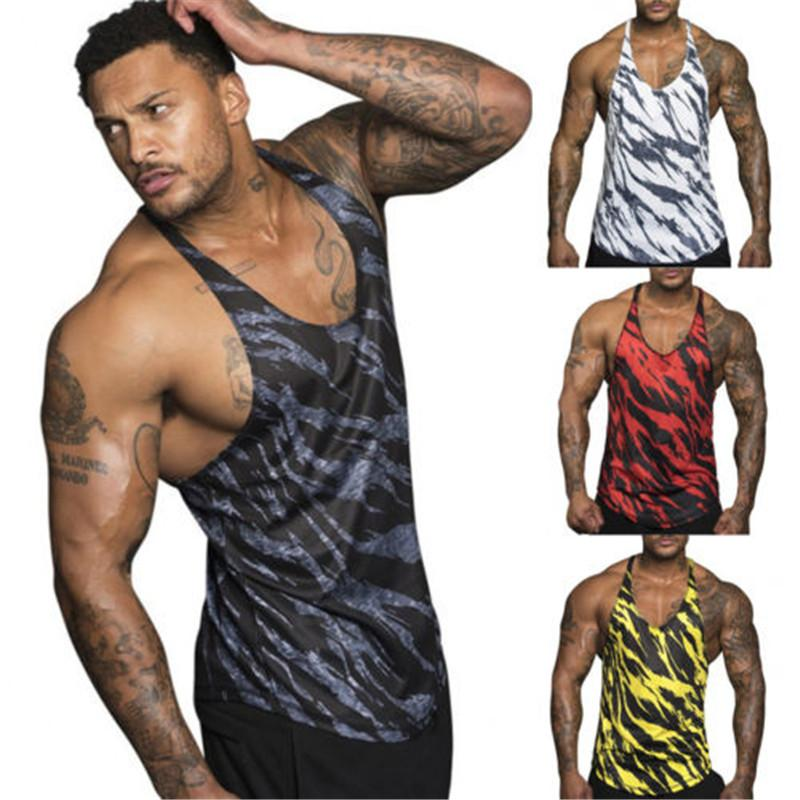 6f4d0dc2727b3 Men Gym Camo Single Tank Top Tee Shirt Stringer Bodybuilding Muscle Fitness  Vest Running Breathable Comfortable Jacket Vest NZ 2019 From Yiquanwater