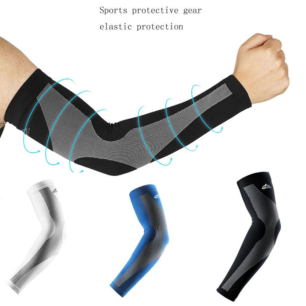 New Sports Arm Sleeves UV Sun Protect Anti-slip Tattoo Cover Athletic Elbow Pads