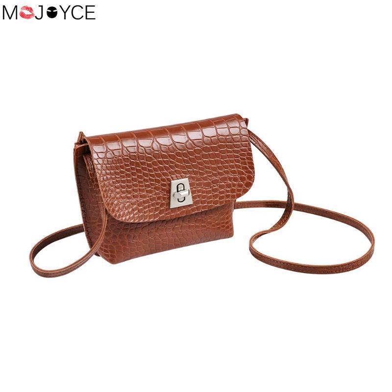 50336fbf0a03 Mini Sling Crossbody Bags for Women Alligator Pattern PU Leather Shoulder  Bags Casual Female Messenger Bag bolsos mujer Handbags