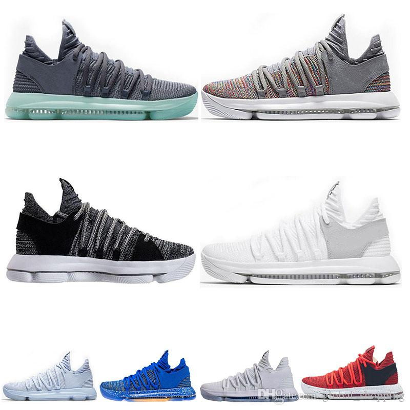 huge discount 6f6ff fa66e ... get classic kd 10 kevin durant men basketball shoes oreo bhm white  black numbers anniversary stucco