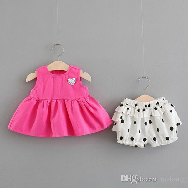 0-1 year-old baby girl summer dress Korean version children's dress 2-3-4 year-old spring and autumn girl dress baby princess suit
