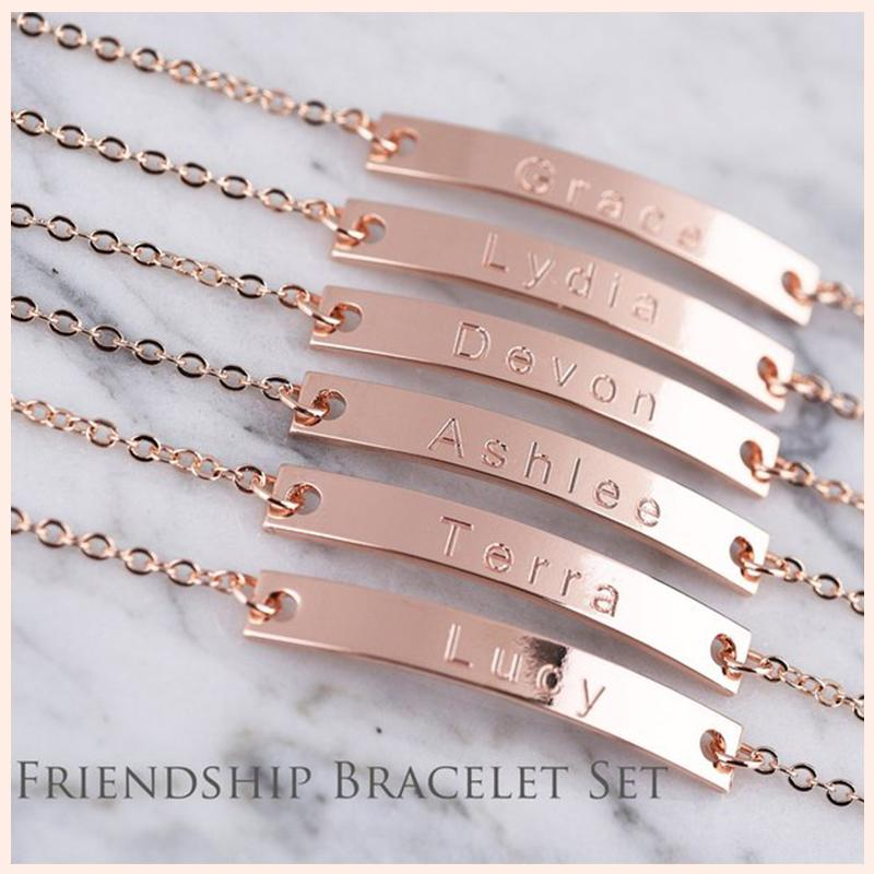 2e7d979ab9879 SG 925 sterling silver thin bar bracelet can be engraved to customize any  name personalized fashion bracelets for women gifts