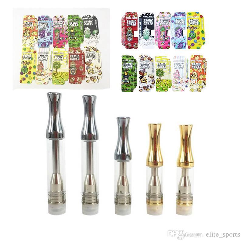 Engraving Exotic Carts Vape Cartridges Packaging For Empty Vape Pen  Cartridges Ceramic 510 Thread Oil Cartidge Dab Wax Vaporizer 1ML Tank