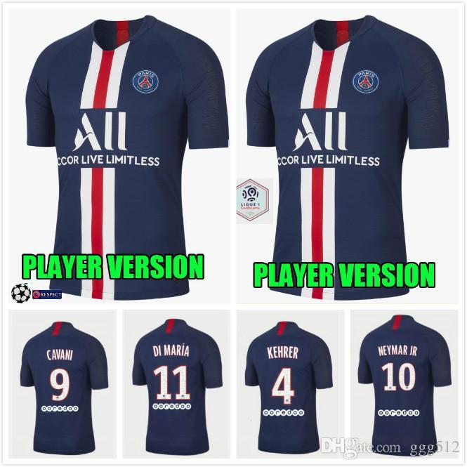 huge discount c6ef9 2f76c new player version psg soccer jerseys 19 20 mbappe maillot de foot home  2019 2020 Paris VERRATTI cavani DI MARIA football shirts thailand