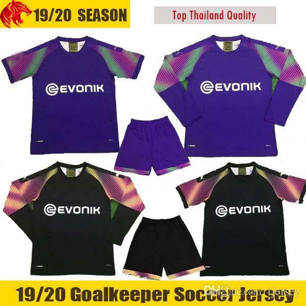 super popular b0fab 8972d 19 20 BVB Borussia Dortmund Soccer Jersey 2019 2020 BURKI HITZ OELSCHLAGEL  Goalkeeper Jersey Football kit Goaltender shirt MEN kids sets