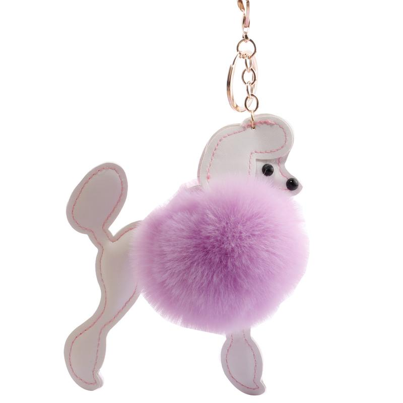 Creative Dog Fur Ball Pendant Car Decorative Bag Plush Toys Pendant Craft Jewelry Gifts Animals Nature Plush Small Keychain