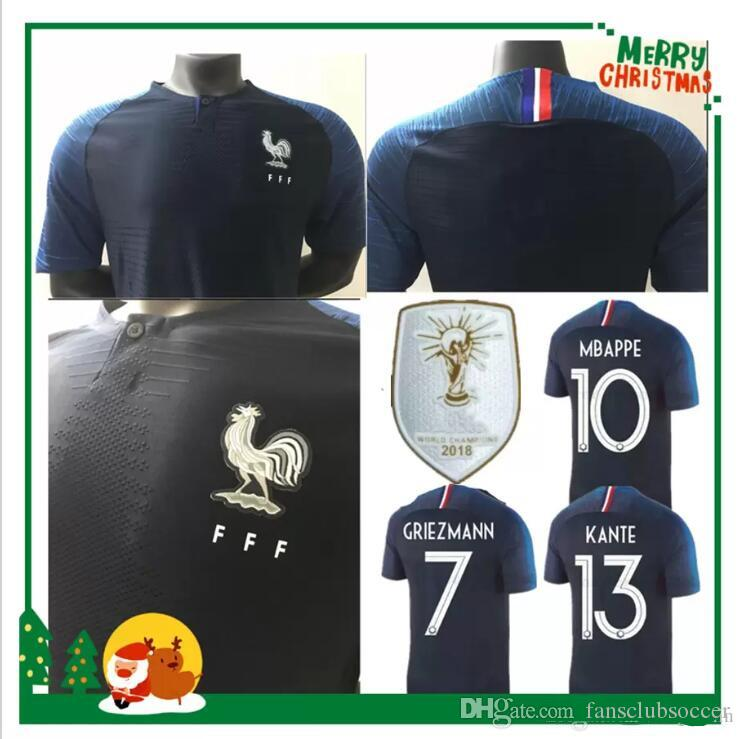50eb3f83a633 2 Stars Soccer Jersey World Cup 2018 2019 Fans Player Version ...