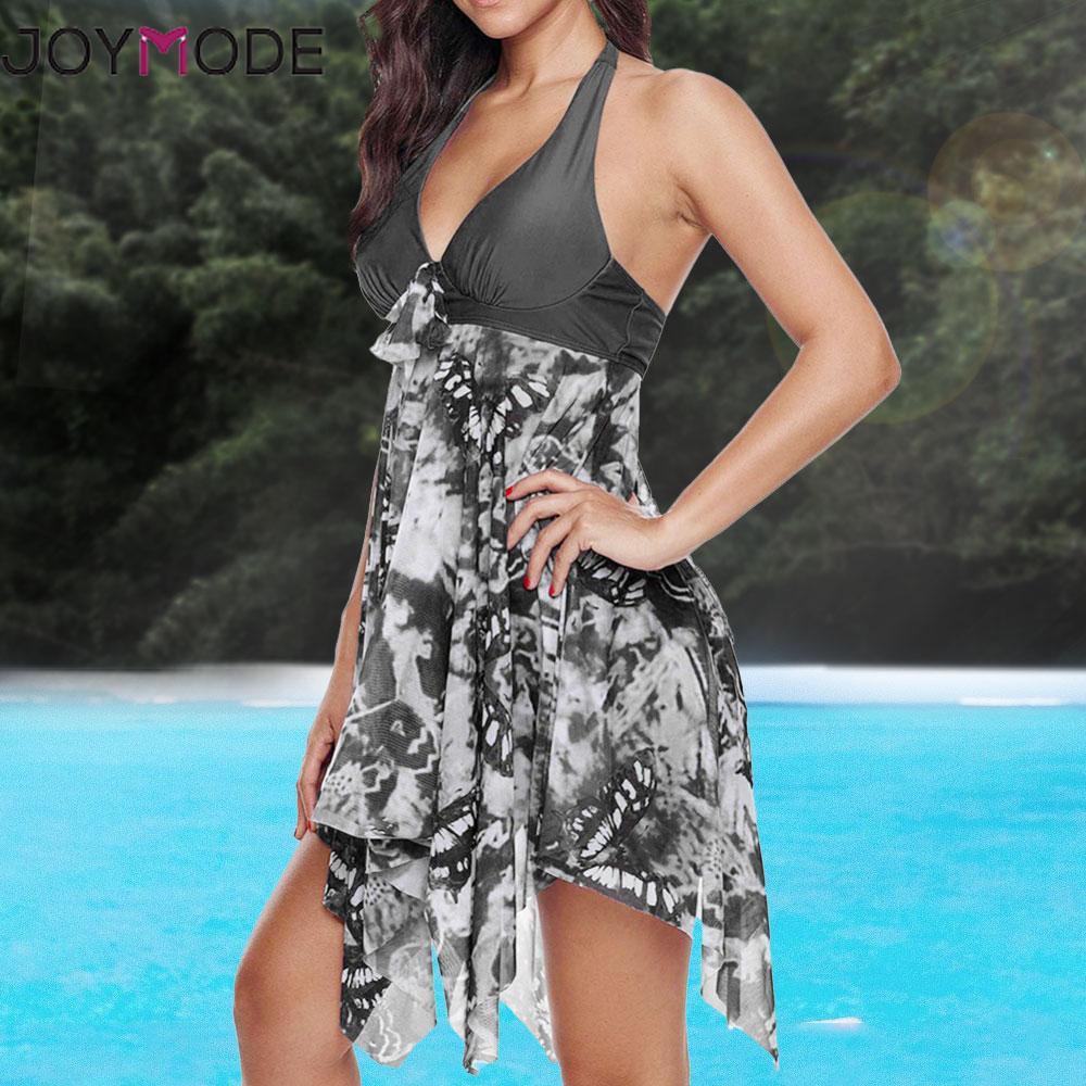 66ebfa54946fe 2019 Joymode Plus Size Swimwear 5xl Women One Piece Sexy Swimsuit ...