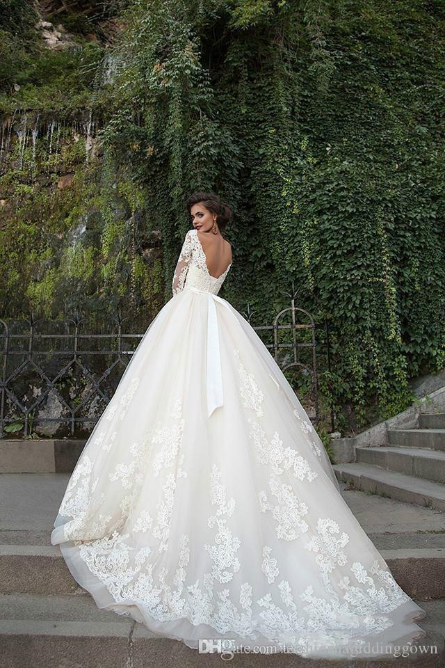 Elegant Arabic Ball Gown Wedding Dresses Vestidos de Noivas 2020 Lace Bride Dress Princess Wedding Gowns Sleeves Abiti Da Sposa Vestidos