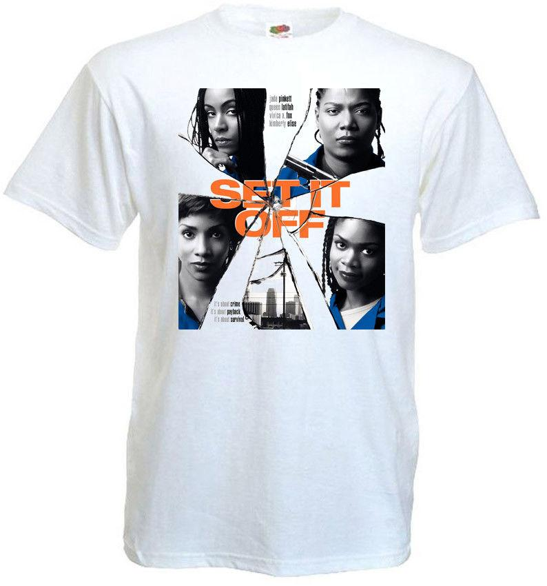 Set It Off v1 T-shirt bianca Movie Poster tutte le taglie S ... 5XL Size Discout Hot New Tshirt Suit Hat Pink T-shirt