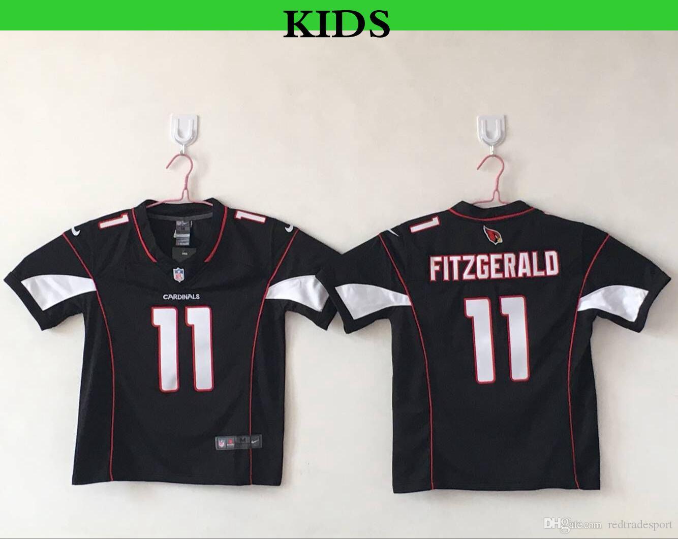 2554cf51 Youth Arizona Kids Cardinals Larry Fitzgerald Football Jerseys Cheap Black  Red Larry Fitzgerald 11 Stitched Football Shirts