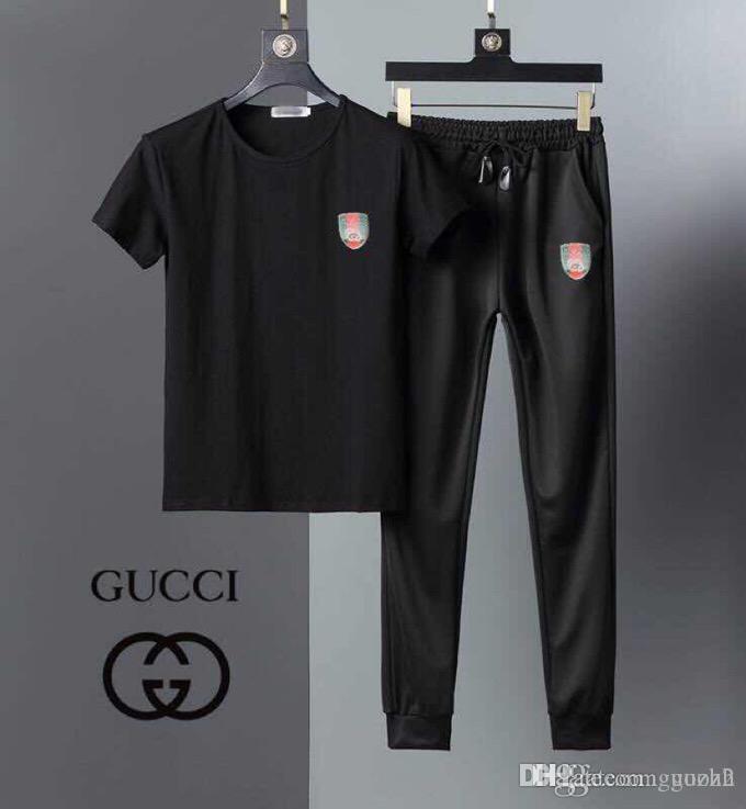 2305c0478c Tuta da uomo estate 18SS tuta mimetica Brand New Pantaloni a maniche corte  in cotone ghiaccio moda ricreativa due abiti sottili