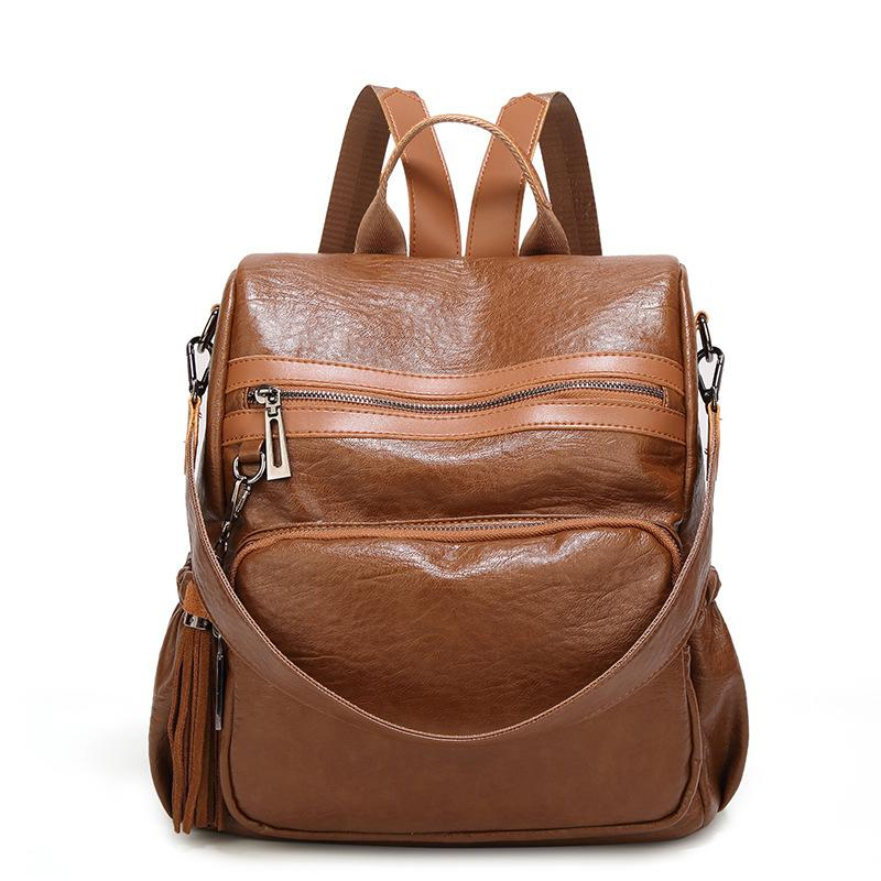 6b734972eb8b1 New PU Leather Backpack Women Anti Theft Backpacks School Shoulder Bag For  Teenage Girls Large Black Bag Female Back Pack Sac A Dos Backpack Brands  Rucksack ...