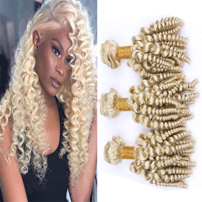 Großhandel Jungfrau Brasilianische Blonde Funmi Lockiges Haar
