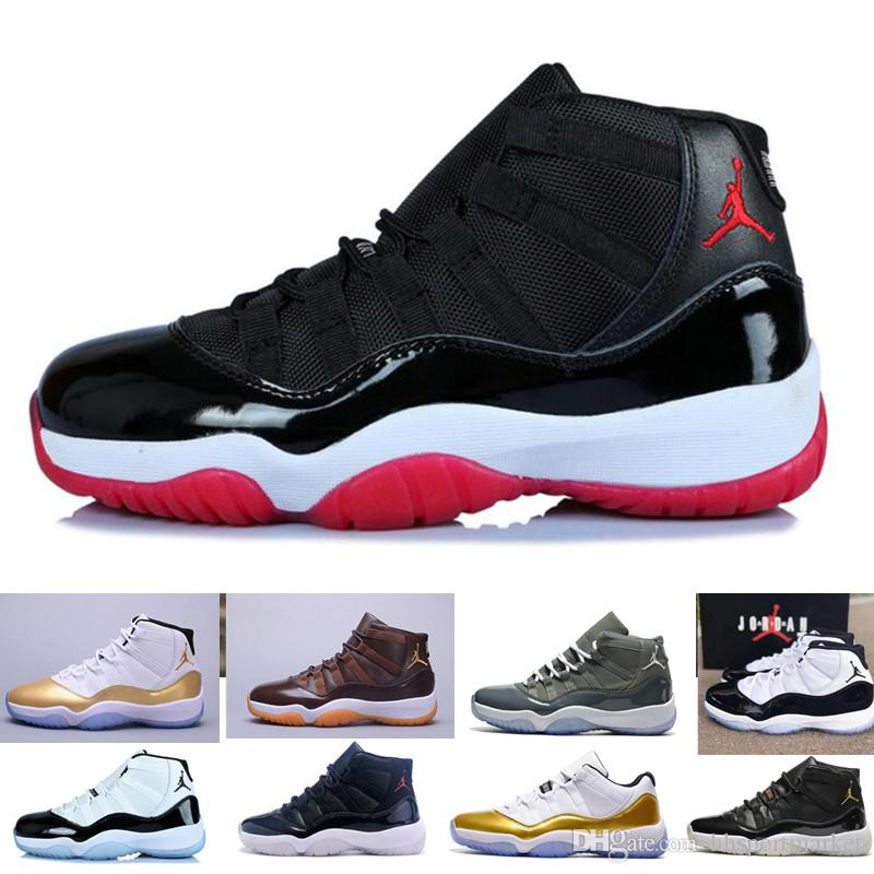 Concord 45 Nike Air Jordan 11 11S Retro XI Platinum Tint Hombre Zapatillas de baloncesto 11 Bred Space Jam Cap y Bata PRM Mujer Zapatillas deportivas