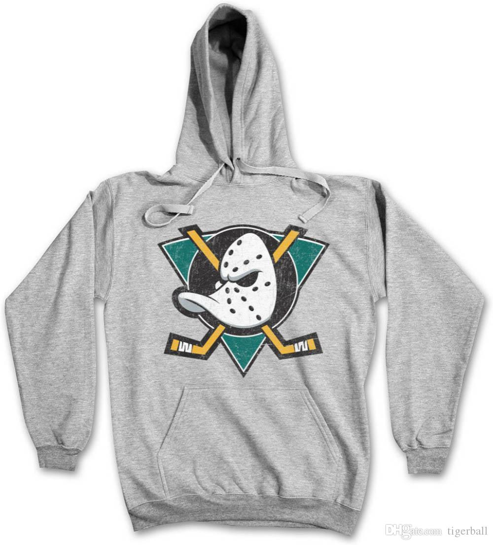 Ducks Hockey Hoodie Sweatshirt Symbol Sign Team The Mighty Logo Mask Bat Stick