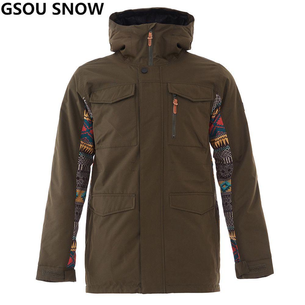 eae0ac3c586 2019 GSON SNOW Brand Winter Ski Jacket Men Waterproof Windproof Snowboard  Jacket Outdoor Sports Snow Skiing Snowboarding C18112301 From Shen8402