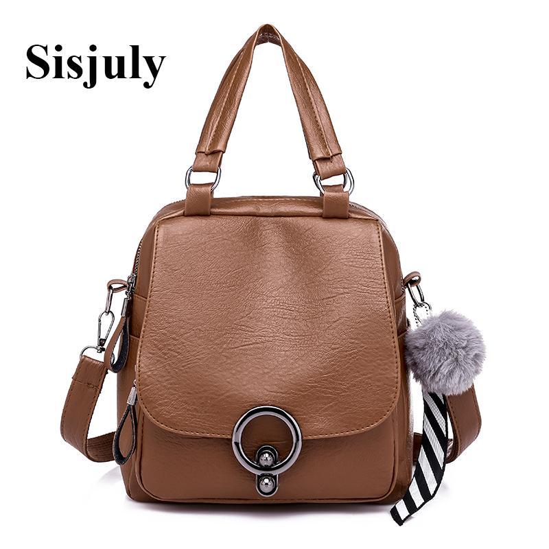 22233ab0d03 Sisjuly Backpack Purse Women Leather Backpack Fashion Small Women Bookbag  School Bgas for Teenager Girls Mini Bag Pack