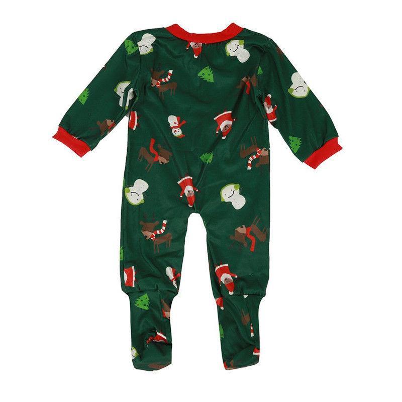 Corrispondenza Family Christmas Pajamas Set Mens delle donne del bambino dei capretti Deer stampa cotone casuali degli indumenti da notte copre gli insiemi