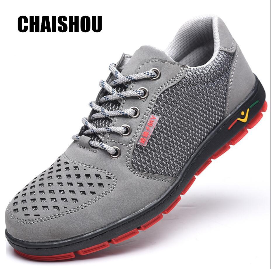 d75c0e0e6e21 CHAISHOU Man Shoes 2019 Genuine Leather Casual Shoes Comfortable Soft  Breathable Men Insulated 6KV Anti Static Work Boots CS218 Red Shoes Footwear  From ...