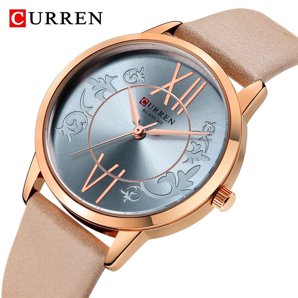 9c718d637d7d Compre CURREN Marca 2019 Diseño De Reloj Multicolor Moda Mujer Reloj Casual  De Cuero Para Mujer Reloj De Pulsera De Cuarzo Relogio Feminino Mujeres De  Lujo ...