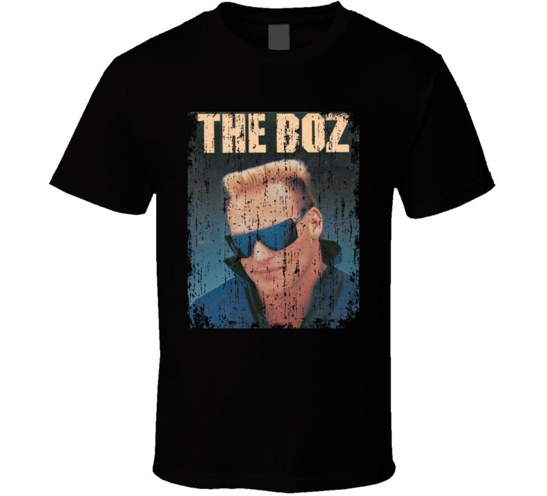 The Boz Brian Bosworth Retro Vintage Distressed Look T-shirt da uomo Nero Funny 100% Cotton T Shirt T-shirt manica corta taglie forti