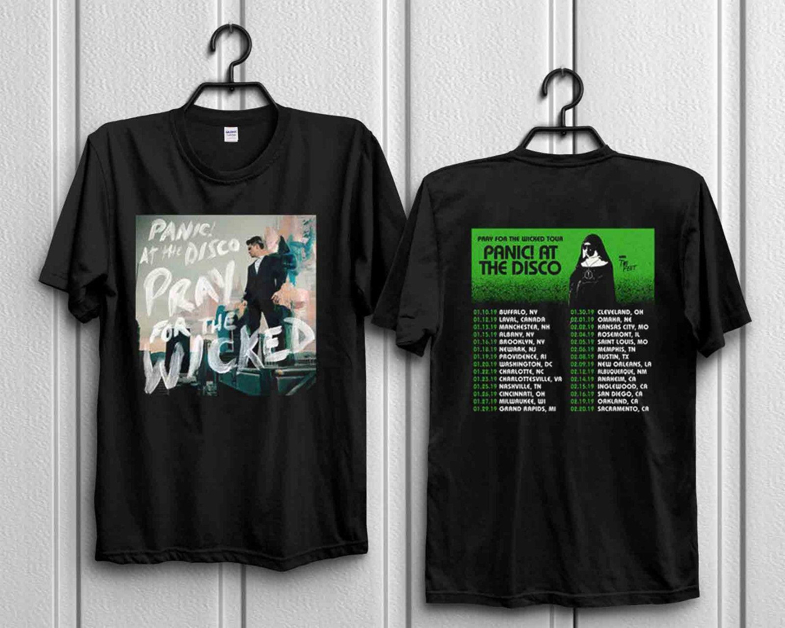 50dc5628 Panic! At The Disco Official 2018 Summer Tour T Shirt Pray For The Wicked  US New Men Women Unisex Fashion Tshirt Offensive Shirts Ringer T Shirts  From ...