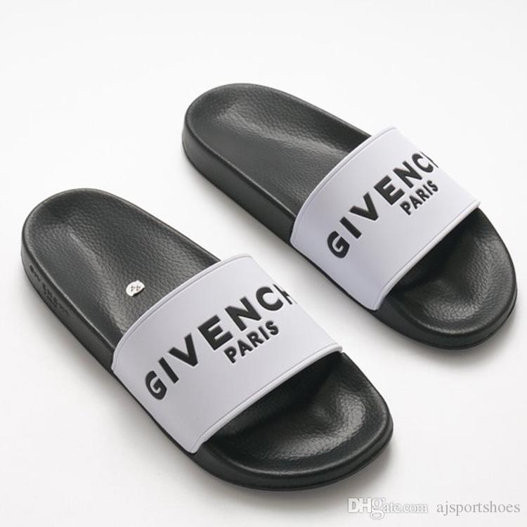 0869eae4266 France Paris Luxury Brand Designer Women s Slippers White Black ...
