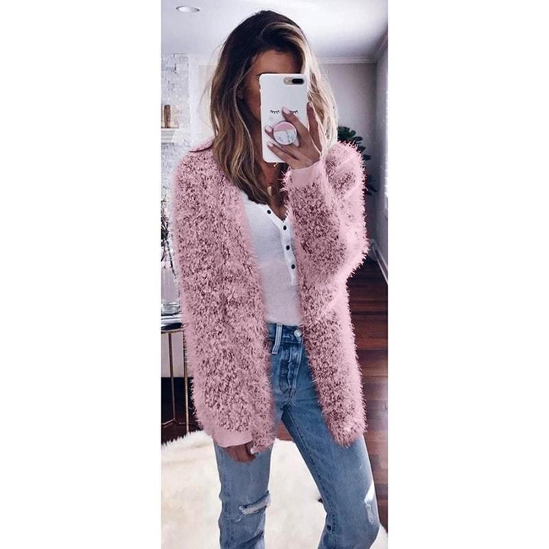 Acquista 2019 Inverno Maglione Peluche Warm Cardigan Autunno Fluffy pOpqH6xRw