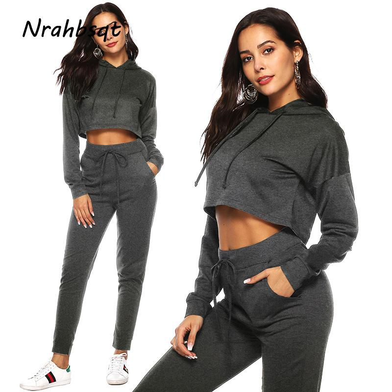 d54db54b190 NRAHBSQT Autumn Winter Women Sports Suits Running Set Women Tracksuit  Hooded Solid Color Gym Running Clothing RS027 Running Sets Cheap Running  Sets NRAHBSQT ...