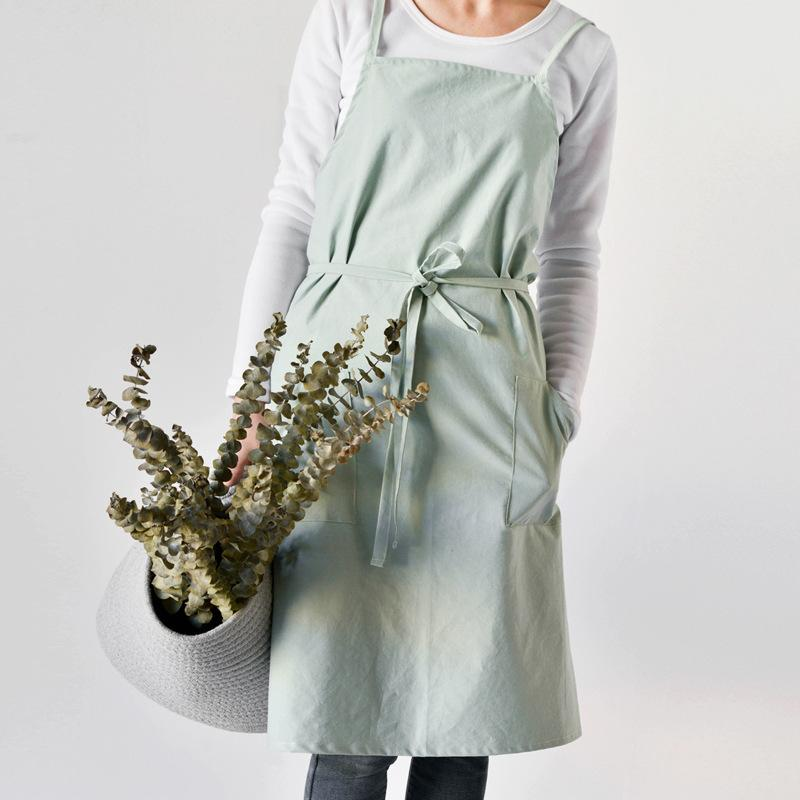 Cotton Aprons For Women With Pockets Kitchen Cooking Gifts For Women Uniform Smocks Custom Logo T8190627 T8190627